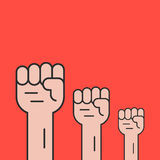 Hands up like revolution protest Stock Photography
