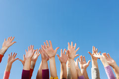 Hands up in the sky Stock Photography
