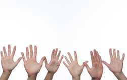 Hands up to the sky Stock Photography