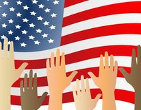 Hands up for the USA Stock Photos