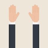 Hands up vector. Stock Photo