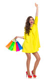 Hands Up Who Goes Shopping With Me Royalty Free Stock Images