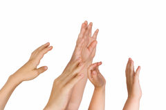Hands upwards Royalty Free Stock Image