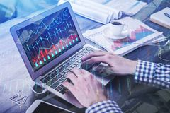 Accounting and trade concept Stock Image