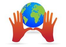 hands världen Arkivfoto