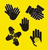 Hands vector Royalty Free Stock Photography