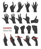 Hands vector set Stock Image