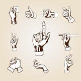 hands vektorn Arkivfoto