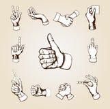 hands vektorn Royaltyfri Fotografi