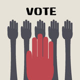 Hands vote. Vector ESP 10 Royalty Free Stock Photography