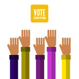 Hands voting. Stock Images