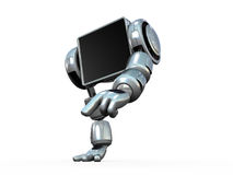 Hands Walking Robot Royalty Free Stock Photography