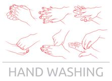 Hands washing Royalty Free Stock Photos