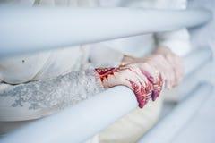 Hands wearing Henna Stock Photos