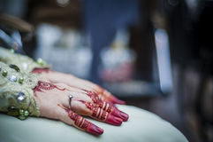 Hands wearing Henna Royalty Free Stock Images