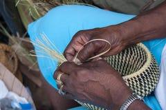 Gullah Basket Weaving Royalty Free Stock Photos