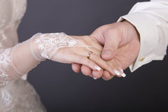 Hands, wedding rings Stock Photography