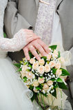 Hands and wedding rings Royalty Free Stock Image