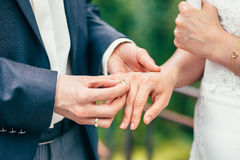 Hands wedding rings love. Finger Royalty Free Stock Images