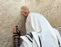 Hands of the western wall stock image