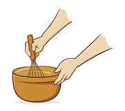 Hands whisking Royalty Free Stock Photos