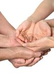 Hands on white background Royalty Free Stock Image