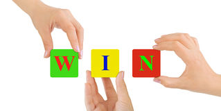 Hands and Win Royalty Free Stock Photo