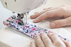 Free Hands With Sewing Machine Stock Photos - 34944983