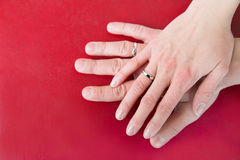 Hands With Wedding Rings Stock Image