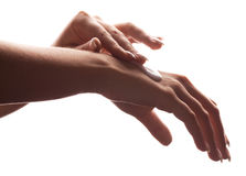 Hands of a woman royalty free stock images