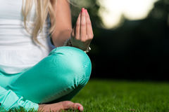 Hands Of Woman Meditating Royalty Free Stock Photo