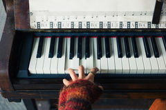 Hands of woman playing piano Royalty Free Stock Images