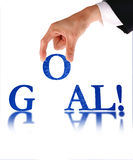 Hands and word Goal, business concept Royalty Free Stock Images