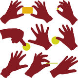 Hands at work Stock Image