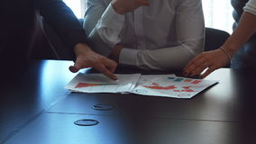 Hands work with financial documents. stock video