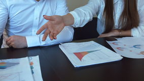 Hands work with financial documents. stock video footage