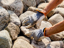 Stone workers Royalty Free Stock Photography