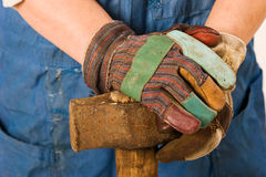 Hands of worker Royalty Free Stock Images