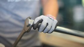 Hands working in the factory line Royalty Free Stock Images
