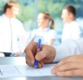 Hands writing Stock Photo
