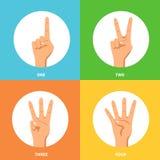 Hands 2x2 Design Concept Set Stock Photos