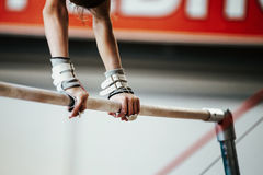 Hands young girl gymnast Royalty Free Stock Photos