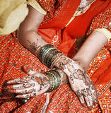 Hands of a young Indian woman. Royalty Free Stock Images