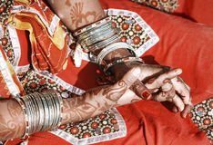 Hands of a young Indian woman. Royalty Free Stock Photography
