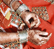 Hands of a young Indian woman. Stock Photos