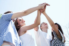 Hands of young men and women Royalty Free Stock Photos