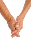 Hands of young and senior women Royalty Free Stock Photos