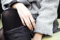 Hands of young woman Royalty Free Stock Images