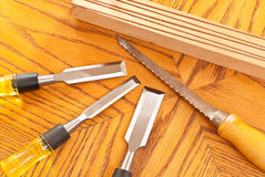 Free Handsaw And Wood Chisels Stock Image - 14086921