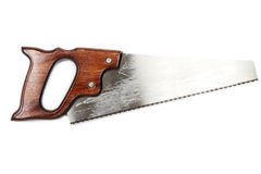 Handsaw from top Stock Photos